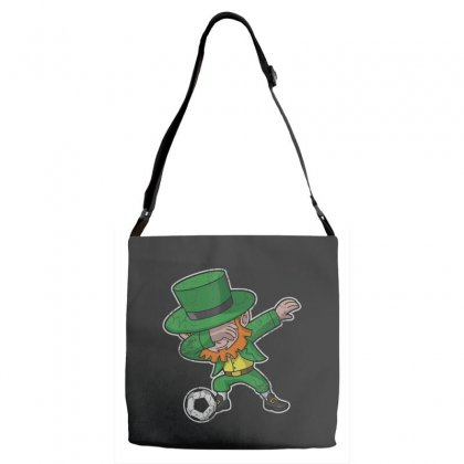 Dabbing Leprechaun Soccer Irish Football St Patricks Day T Shirt Adjustable Strap Totes Designed By Hoainv