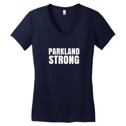 Parkland Strong Women's V-neck T-shirt Designed By Mahendra Ajis