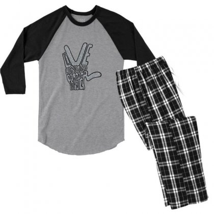 Live Long And Prosper Men's 3/4 Sleeve Pajama Set Designed By Asatya