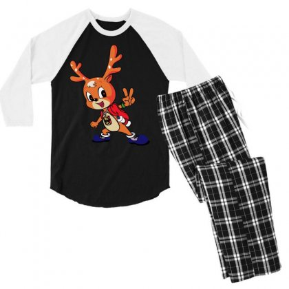 Deer Meme Men's 3/4 Sleeve Pajama Set Designed By Tht