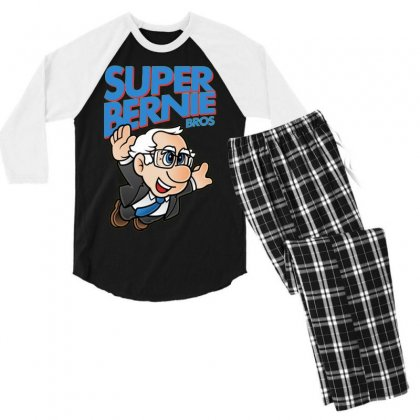 Super Bernie Bros Men's 3/4 Sleeve Pajama Set Designed By Kakashop