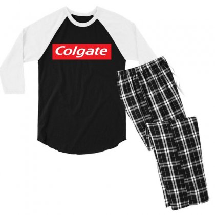 Logo Colgate Men's 3/4 Sleeve Pajama Set Designed By Tht