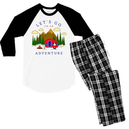 An Adventure Men's 3/4 Sleeve Pajama Set Designed By Tht