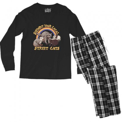 Support Your Local Street Cats Men's Long Sleeve Pajama Set Designed By Kakashop