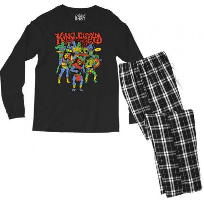 King And Gizzard Men's Long Sleeve Pajama Set Designed By Tht