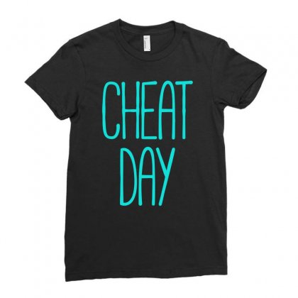 Cheat Day Ladies Fitted T-shirt Designed By S4bilal