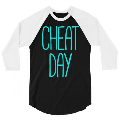 Cheat Day 3/4 Sleeve Shirt Designed By S4bilal