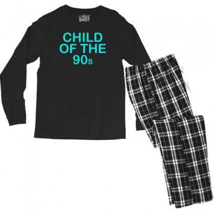 Child Of The 90s Men's Long Sleeve Pajama Set Designed By S4bilal