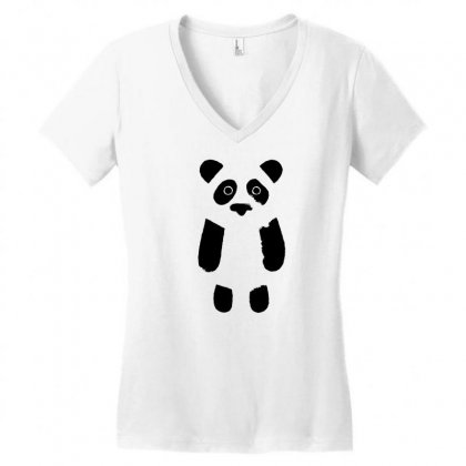 Panda Cool Women's V-neck T-shirt Designed By Tht