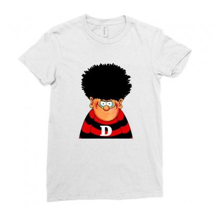 Dennis The Menace Ladies Fitted T-shirt Designed By Shirt1na