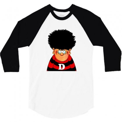 Dennis The Menace 3/4 Sleeve Shirt Designed By Shirt1na