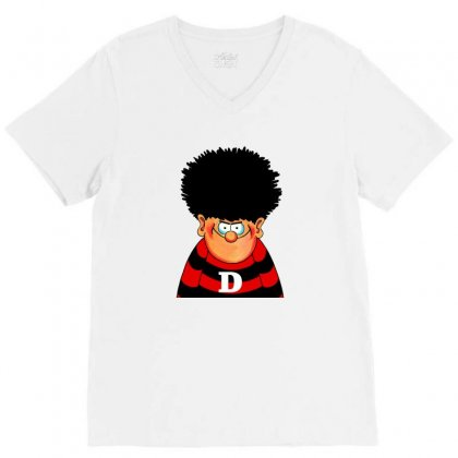 Dennis The Menace V-neck Tee Designed By Shirt1na