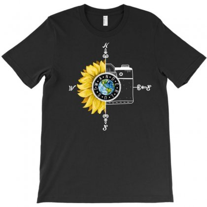 Wanderlust Sunflower For Dark T-shirt Designed By Neset