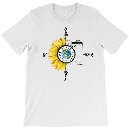 Wanderlust Sunflower For Light T-shirt Designed By Neset