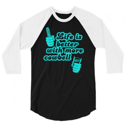 Cowbell 3/4 Sleeve Shirt Designed By S4bilal