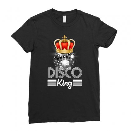 Disco King Ladies Fitted T-shirt Designed By Neset