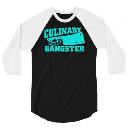 Culinary Gangster 3/4 Sleeve Shirt Designed By S4bilal