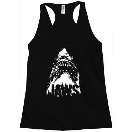 Hungry Shark Racerback Tank Designed By Swan Tees