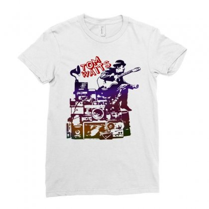 Tom Waits Band Ladies Fitted T-shirt Designed By Swan Tees