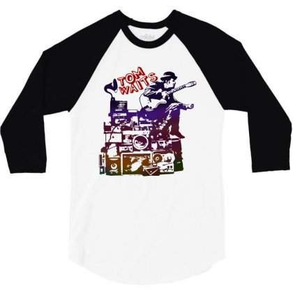 Tom Waits Band 3/4 Sleeve Shirt Designed By Swan Tees