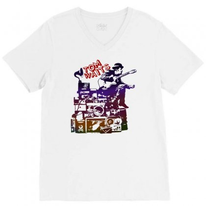 Tom Waits Band V-neck Tee Designed By Swan Tees