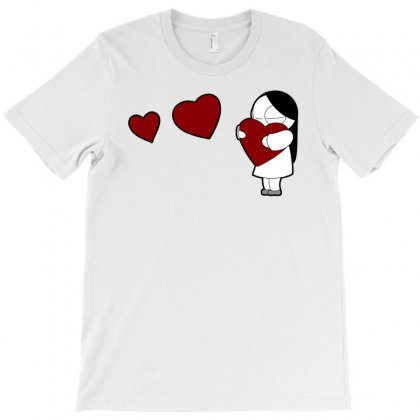 Catana Hearts T-shirt Designed By Artwoman