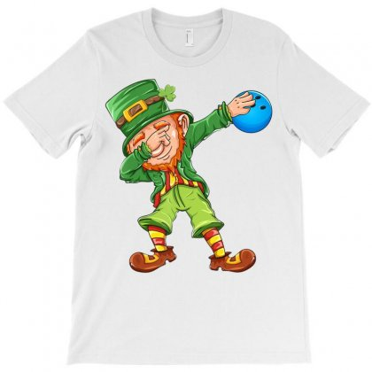 Dabbing Leprechaun Bowling St Patrick's Day Sports Lovers T Shirt T-shirt Designed By Hoainv