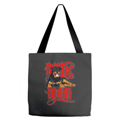 Rottie Mom Tote Bags Designed By Tiococacola