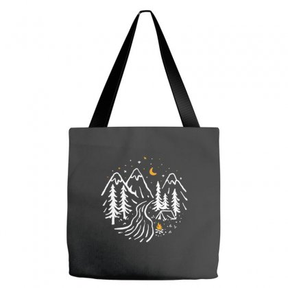 Night Camping Tote Bags Designed By Quilimo