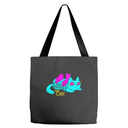 Squish That Cat Tote Bags Designed By Artwoman