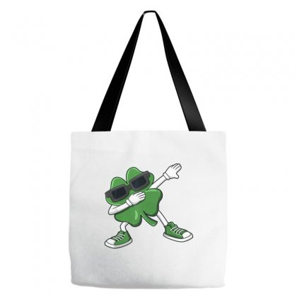 Dabbing Shamrock St Patrick's Day Funny Boys Girls Kids Dab T Shirt Tote Bags Designed By Hoainv