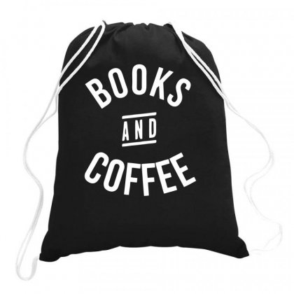 Books And Coffee Drawstring Bags Designed By Farrel T-shirt