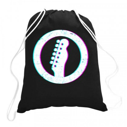 Telecaster Headstock Art Drawstring Bags Designed By Butterfly99