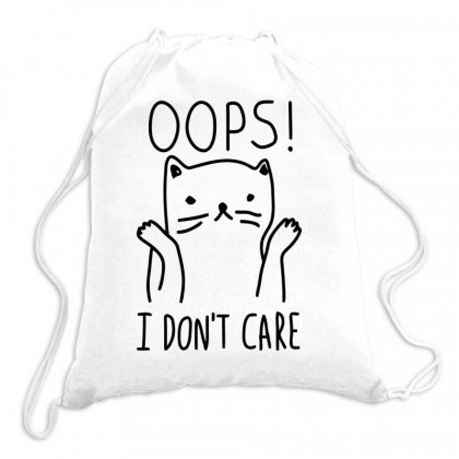 Dont Care Cat Drawstring Bags Designed By Farrel T-shirt