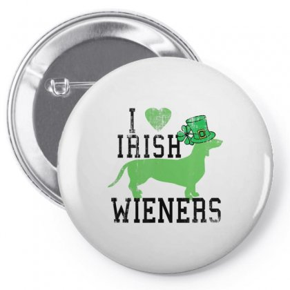 Dachshund Lovers Love Irish Wieners St. Patrick's Day Pin-back Button Designed By Hoainv