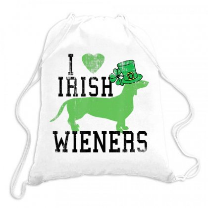 Dachshund Lovers Love Irish Wieners St. Patrick's Day Drawstring Bags Designed By Hoainv