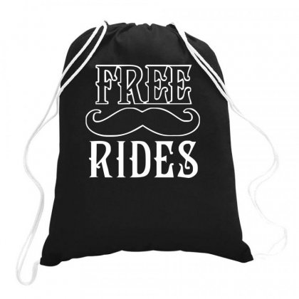 Free Mustache Rides Drawstring Bags Designed By Farrel T-shirt