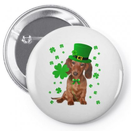 Dachshund Shamrock Leprechaun St Patrick's Day Irish Dog T Shirt Pin-back Button Designed By Hoainv