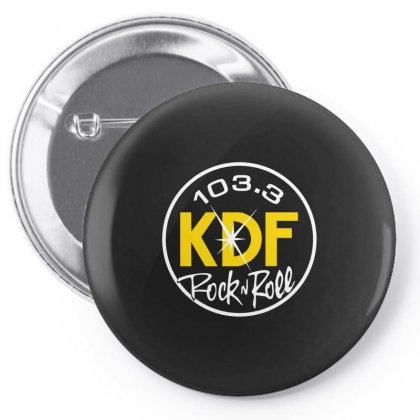 103.3 Kdf Rock N Roll Art Pin-back Button Designed By Butterfly99