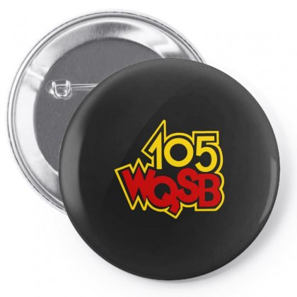 105 Wqsb Logo Pin-back Button Designed By Butterfly99