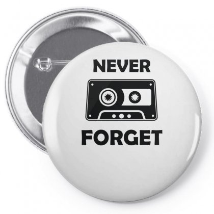 Never Forget Funny Vintage Cassette Pin-back Button Designed By Farrel T-shirt