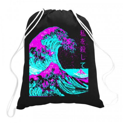 Aesthetic, The Great Wave Off Kanagawa , Hokusai Drawstring Bags Designed By Butterfly99