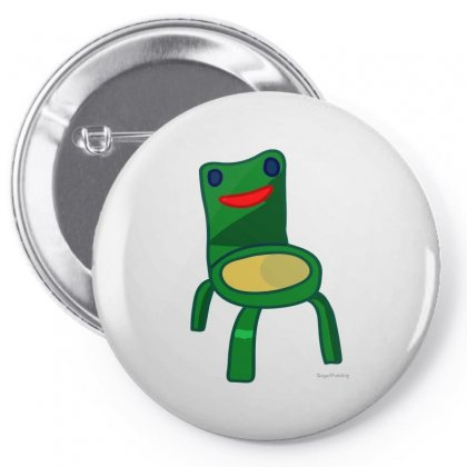 Animal Crossing Froggy Chair Fitted Scoop Pin-back Button Designed By Butterfly99