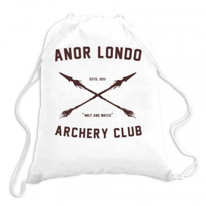 Anor Londo   Archery Club Art Drawstring Bags Designed By Butterfly99