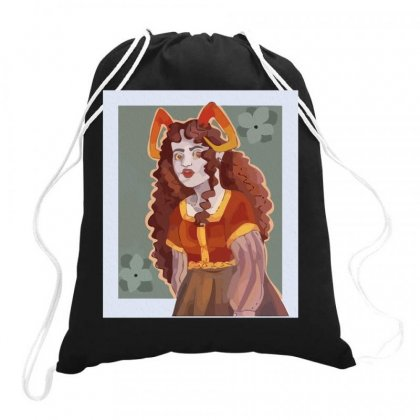 Aradia Megido But Shes In A Mideval Inspired Dress Graphic Drawstring Bags Designed By Butterfly99