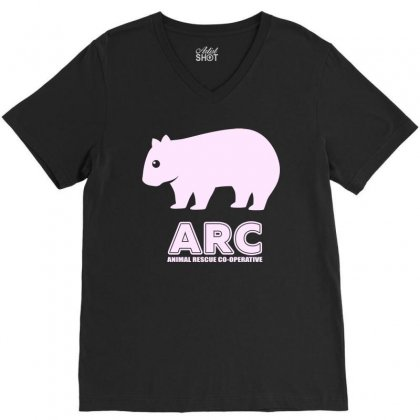 Arc Wombat Gear , Animal Rescue Co Operative V-neck Tee Designed By Butterfly99