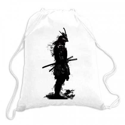 Armored Samurai Tri Blend Drawstring Bags Designed By Butterfly99