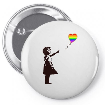 Banksy   Girl With Balloon Art Pin-back Button Designed By Butterfly99