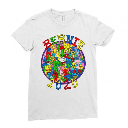 Bernie 2020 Ladies Fitted T-shirt Designed By Butterfly99