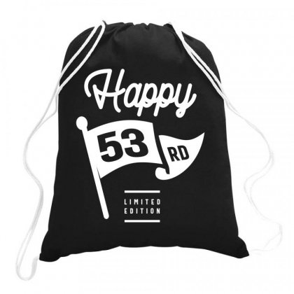 53 Year Old - 53rd Birthday Funny Gift Drawstring Bags Designed By Cidolopez
